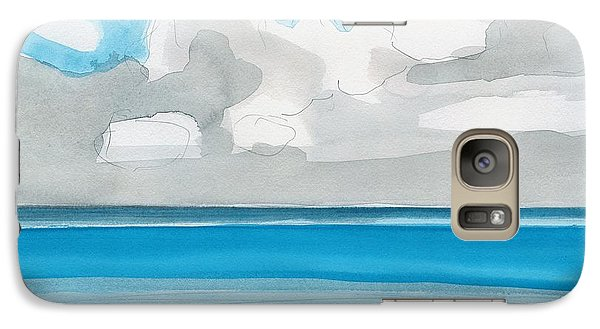 Galaxy Case featuring the painting Bacalar, Mexico by Dick Sauer