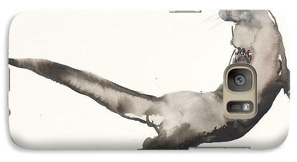 Back Awash   Otter Galaxy S7 Case by Mark Adlington