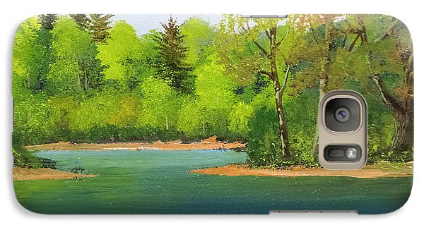 Galaxy Case featuring the painting Back Country Pond by Frank Wilson
