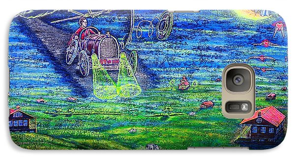 Galaxy Case featuring the painting Back Home by Viktor Lazarev