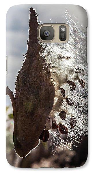 Back Lit Milkweed Pod Galaxy S7 Case