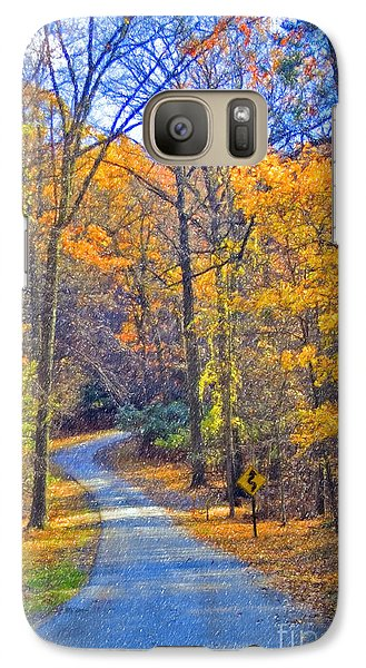 Galaxy Case featuring the photograph Back Road Fall Foliage by David Zanzinger