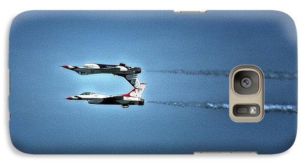 Galaxy S7 Case featuring the photograph Back To Back Thunderbirds Over The Beach by Bill Swartwout Fine Art Photography