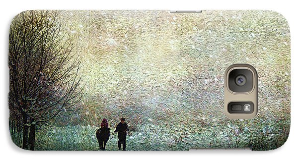 Galaxy Case featuring the photograph Back To The Barn by Kathy Bassett