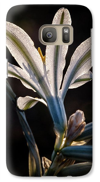 Galaxy Case featuring the photograph Backlit Ajo Lily by Robert Bales