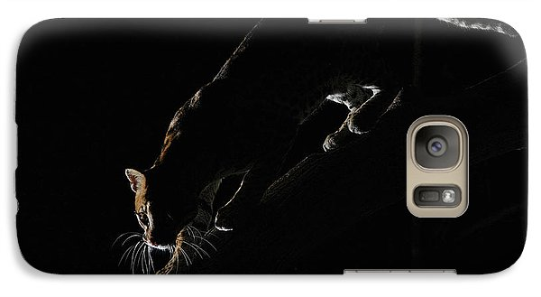 Galaxy Case featuring the photograph Backlit Ocelot by Wade Aiken