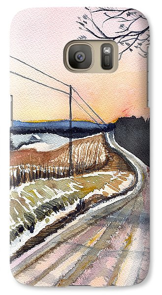 Galaxy Case featuring the painting Backlit Roads by Katherine Miller