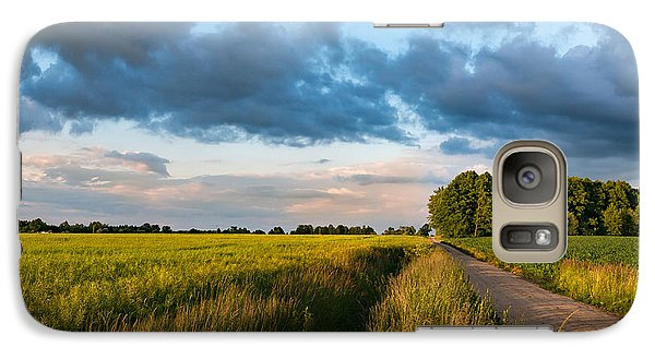 Galaxy Case featuring the photograph Backroad Between The Fields by Dmytro Korol