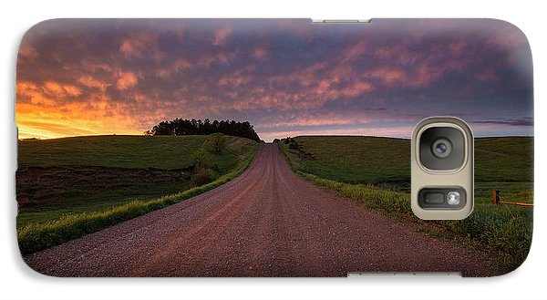 Galaxy Case featuring the photograph Backroad To Heaven  by Aaron J Groen