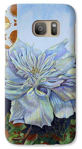 Galaxy Case featuring the mixed media Backyard Splendor by Suzanne McKee