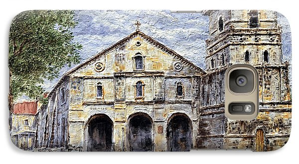 Galaxy Case featuring the painting Baclayon Church by Joey Agbayani