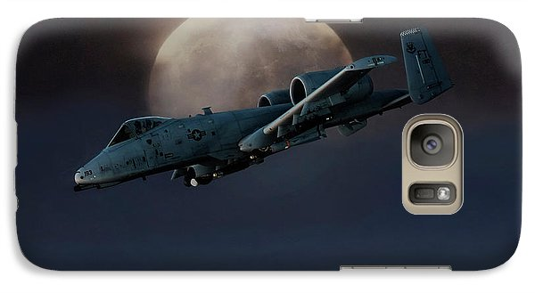 Galaxy Case featuring the digital art Bad Moon by Peter Chilelli