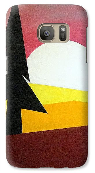 Galaxy Case featuring the painting Bad Moon Rising by J R Seymour