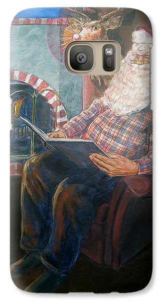 Galaxy Case featuring the painting Bad Rudolph by Bryan Bustard