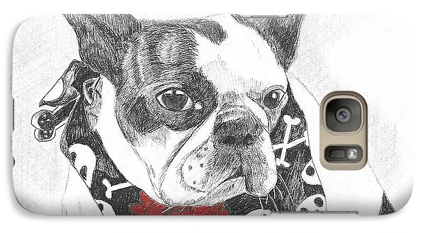 Galaxy Case featuring the drawing Bad To The Bone by Arlene Crafton