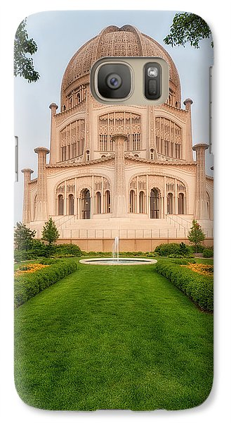 Galaxy Case featuring the photograph Baha'i Temple - Wilmette - Illinois - Veritcal by Photography  By Sai