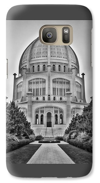 Baha'i Temple - Wilmette - Illinois - Vertical Black And White Galaxy S7 Case