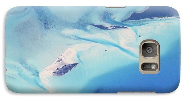 Galaxy Case featuring the photograph Bahama Banks Aerial Seascape by Roupen  Baker