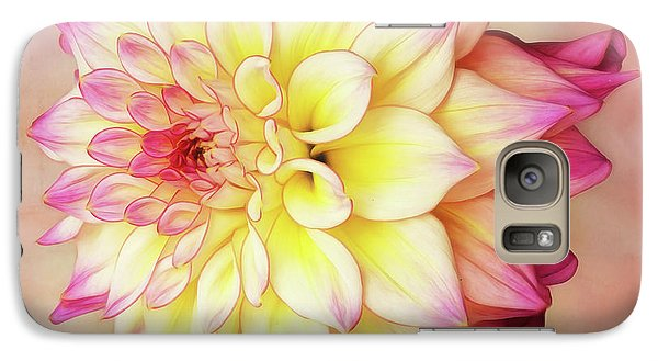 Galaxy Case featuring the photograph Bahama Mama Dahlia Square by Mary Jo Allen