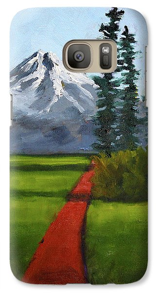 Galaxy S7 Case featuring the painting Baker Meadow by Nancy Merkle