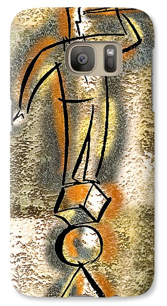 Galaxy Case featuring the painting Balance by Leon Zernitsky
