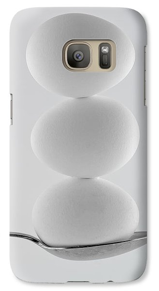 Galaxy Case featuring the photograph Balancing Eggs by Gert Lavsen