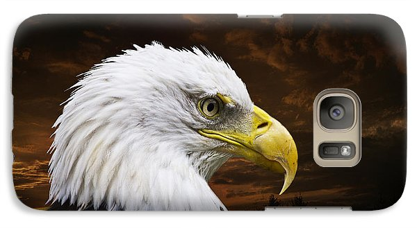 Bald Eagle - Freedom And Hope - Artist Cris Hayes Galaxy S7 Case by Cris Hayes