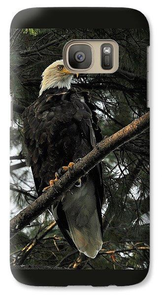 Galaxy Case featuring the photograph Bald Eagle by Glenn Gordon