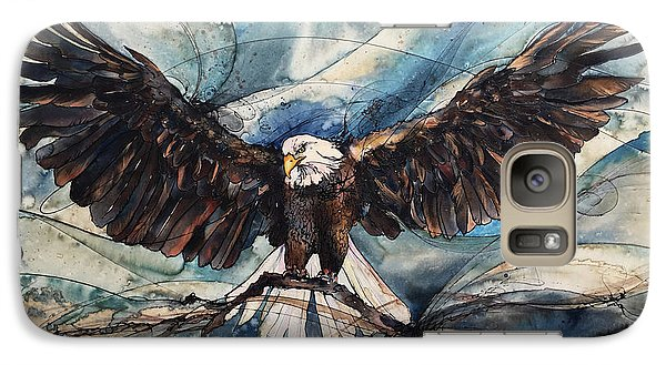 Galaxy Case featuring the painting Bald Eagle by Christy Freeman