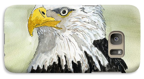 Galaxy Case featuring the painting Bald Eagle by Eva Ason