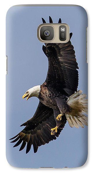 Galaxy Case featuring the photograph Bald Eagle Flyer by Phil Stone