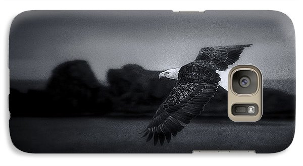 Galaxy Case featuring the photograph Bald Eagle In Flight by John A Rodriguez
