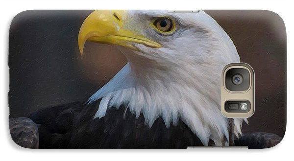 Galaxy Case featuring the digital art Bald Eagle Painting by Chris Flees
