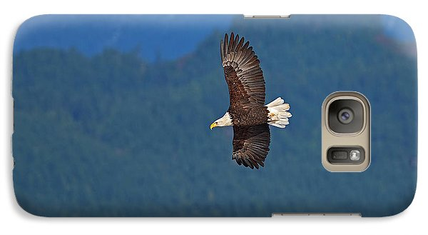 Galaxy Case featuring the photograph Bald Eagle Soaring  by Sharon Talson