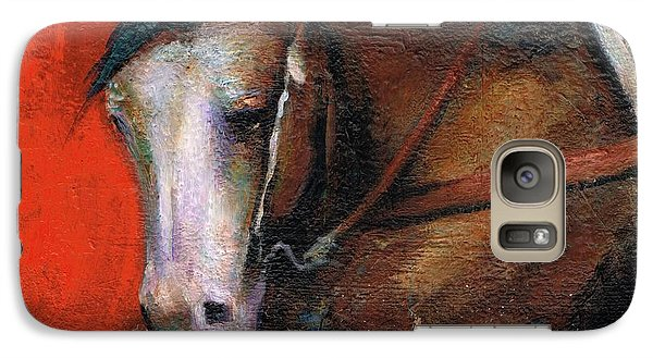 Galaxy Case featuring the painting Bald Face by Frances Marino