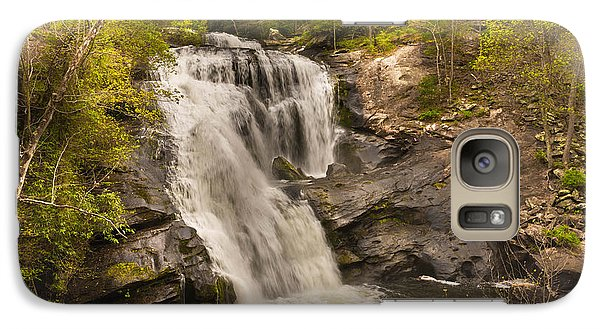 Galaxy Case featuring the photograph Bald River Falls Spring by Rebecca Hiatt