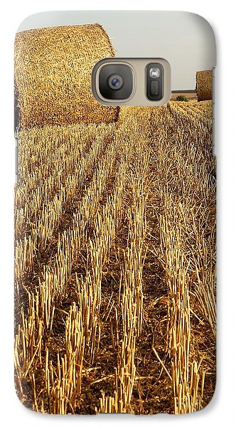 Galaxy Case featuring the photograph Bales Of Hay by Gary Bridger