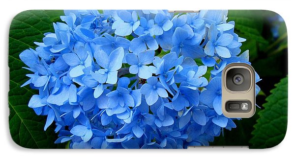Galaxy Case featuring the photograph Ball Of Blue by Michiale Schneider