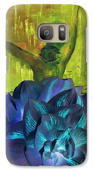 Galaxy Case featuring the photograph Ballerina Illusion by AmaS Art