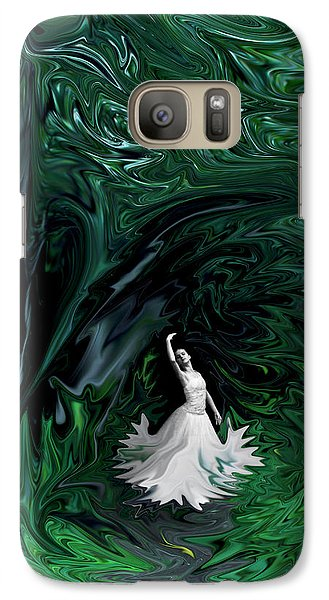 Galaxy Case featuring the photograph Ballerina In Wonderland by Rebecca Margraf