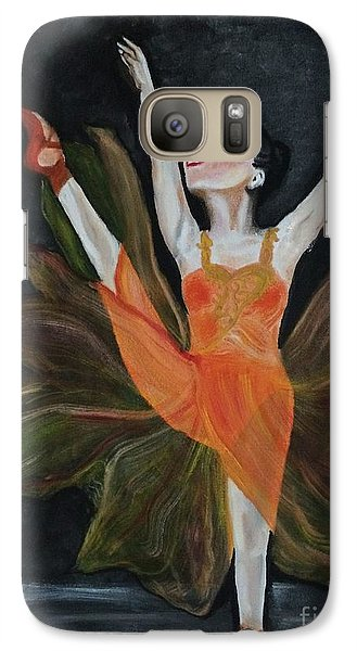 Galaxy Case featuring the painting Ballet Dancer 1 by Brindha Naveen