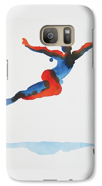 Galaxy Case featuring the painting Ballet Dancer 1 Flying by Shungaboy X