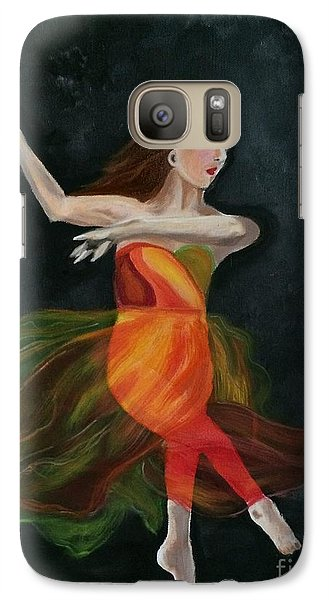 Galaxy Case featuring the painting Ballet Dancer 2 by Brindha Naveen