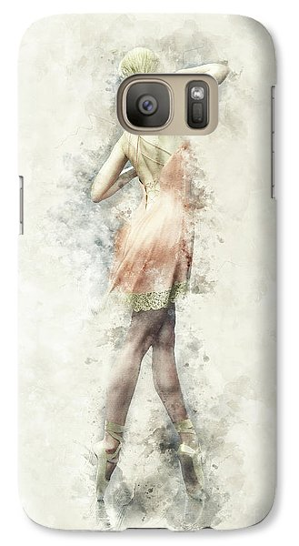 Galaxy Case featuring the digital art Ballet Dancer by Shanina Conway