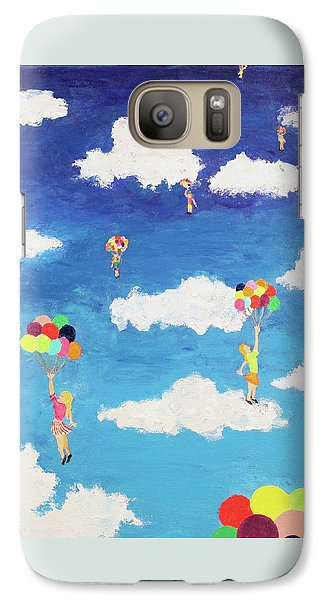 Galaxy Case featuring the painting Balloon Girls by Thomas Blood