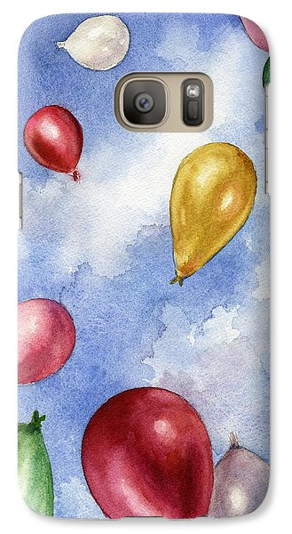 Galaxy Case featuring the painting Balloons In Flight by Anne Gifford