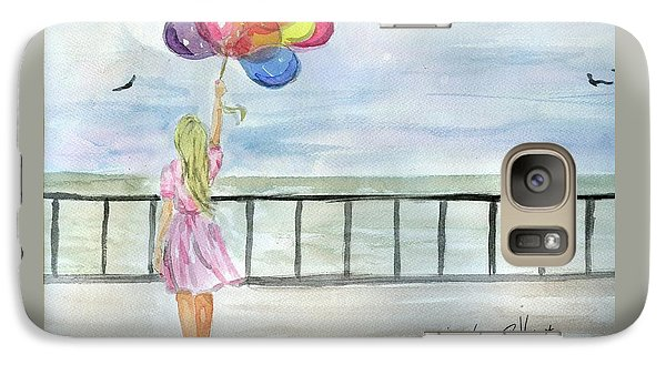 Galaxy Case featuring the painting Baloons by P J Lewis