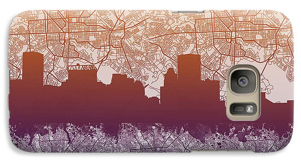 Galaxy Case featuring the painting Baltimore City Skyline Map by Bekim Art