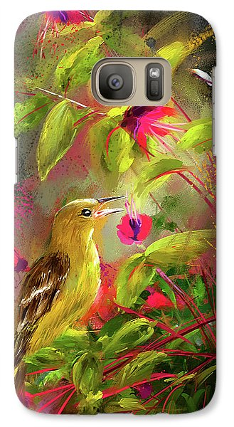 Baltimore Oriole Art- Baltimore Female Oriole Art Galaxy S7 Case