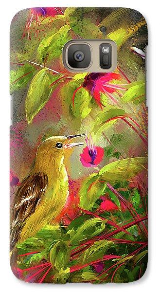 Baltimore Oriole Art- Baltimore Female Oriole Art Galaxy S7 Case by Lourry Legarde